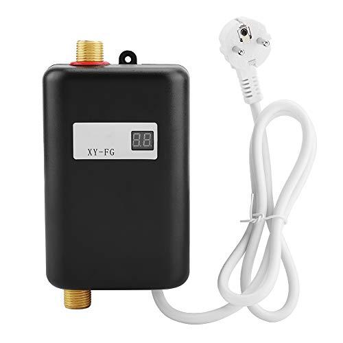 Durchlauferhitzer, Küche Bad 220V 3800W Mini Electric Tankless Durchlauferhitzer mit LCD-Display EU(schwarz)