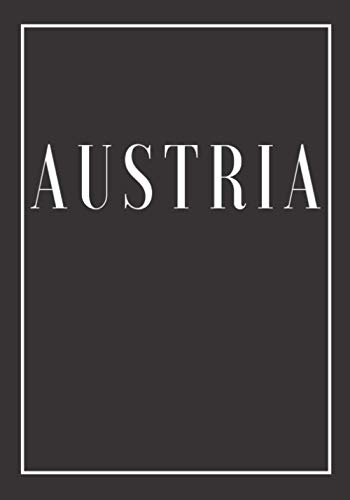 Austria: A black decorative book for coffee tables, bookshelves and end tables: Stack Country decor books to add home decoration to bedrooms, ... own home or as an interior design savvy gift.