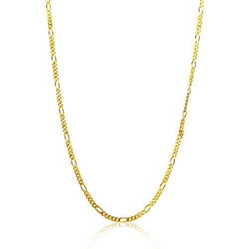 Miore ketting uit 14 karaat 585/1000 geelgoud figaro schakel met lengte 45 cm