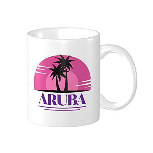 Aruba - Taza de viaje con diseño de isla tropical del Caribe, el mejor regalo para amigos