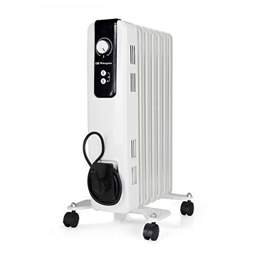 Orbegozo RH Radiador de Aceite, 1500W de Potencia, 7 Elementos y diseño en Color Blanco, Negro, 1500 W