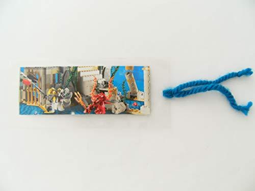 Lesezeichen selbstgemacht, Unterwasserwelt, Buchzeichen Bookmark Bausteine Geschenkidee Bücher