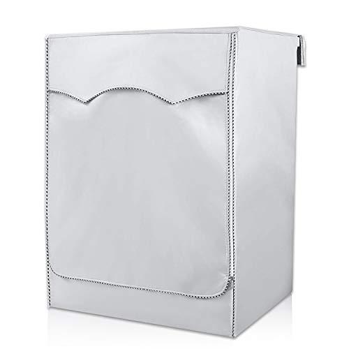 Carica Frontale lavatrici e Asciugatrice Copertura,Coprilavatrice da Esterno Copertura,Crema Solare Anti-ultravioletti Impermeabile Antipolvere(Silver,85x60x55cm)