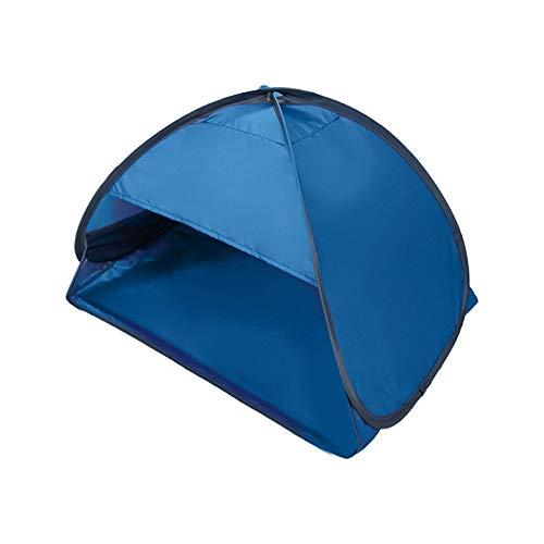 Tienda de campaña para el sol de playa, portátil, mini sombra, refugio para la cara de la cabeza, protección de la sombra para la protección solar personal (azul)