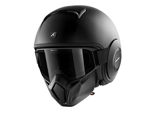Astone Helmets Shark Jethelm Street Drak schwarz matt Gr.