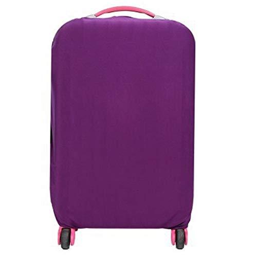 Funda protectora para equipaje de viaje para maleta de 18 pulgadas y 30 pulgadas de equipaje de equipaje cubre accesorios de viaje 110, morado, S, color Morado, talla Medium
