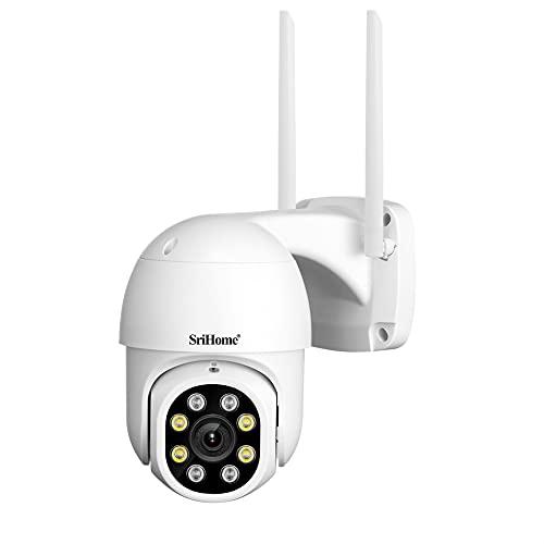 Camara de Vigilancia WiFi Exterior,Cámara IP de Seguridad Wi-Fi con Impermeable, Detección de Movimiento, Visión Nocturna, Audio de 2 Vias
