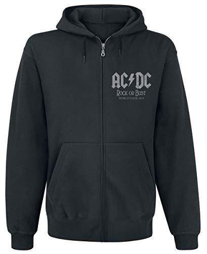 AC/DC - World Tour 2015 Kapuzenjacke (Zipper), Schwarz, L
