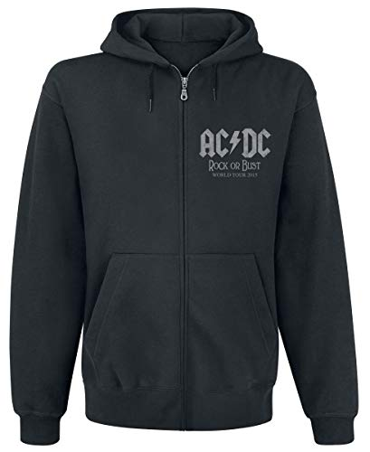 AC/DC - World Tour 2015 Kapuzenjacke (Zipper), Schwarz, L