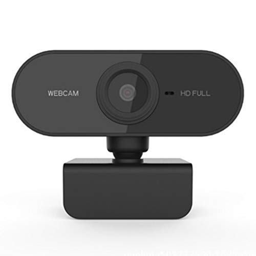 Hanone Webcam 1080P PC Mini USB 2.0 Cámara Web con micrófono Cámara de computadora USB Negro
