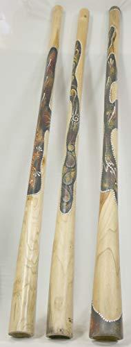 Holz Didgeridoo Jackfruit Baum - Länge 130cm - Punktbemalung
