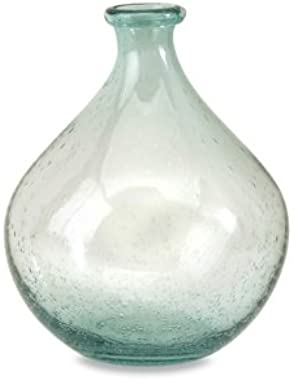 IMAX 63024 Amadour Bubble Glass Bottle - Small Sized Glass Jar, Decorative Vase for Dining Hall, Living Room, Hotels. Decorative Accessories