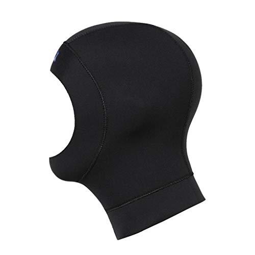 perfeclan Tauchhaube 3mm Neopren Tauchen Kopfhaube Badehaube für Herren Damen - L