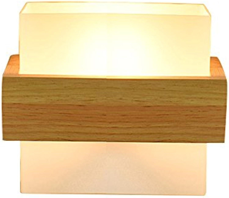 Rishx Europische hlzerne Wand-Leuchte-moderne Einfachheit-Gang-Korridor-Licht-Wandleuchte-kreative Glaskugel-Wohnzimmer-Schlafzimmer-Nachttischlampe