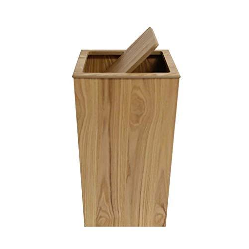 Garbage stam massief houten papieren mand kantoorstudies vergaderruimte inklapbaar afvalemmer 23 x 23 x 40 cm thuis (kleur: A afmetingen: 23 x 23 x 40 cm) 23 x 23 x 40 cm.