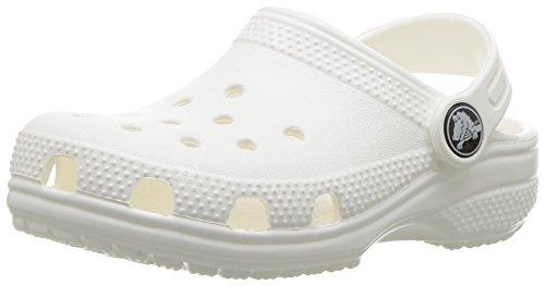 Crocs Classic Clog Kids Roomy fit Zuecos Unisex niños, Blanco (White), 27/28 EU