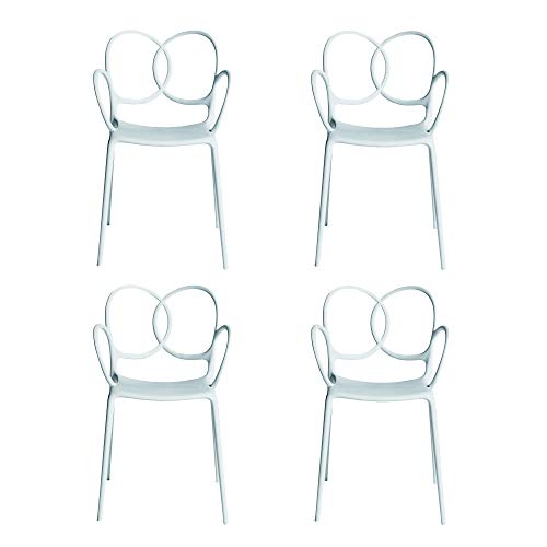 Driade Sissi - Set di 4 sedie con braccioli