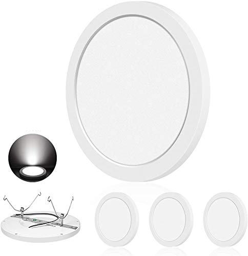 AVANLO Ceiling Light Flush Mount, 11.8 Inch 24W 1680lm (150W Incandescent Equivalent), Dimmable Round LED Disk Light Fixture, 5000K Daylight White, Easy Installation, 4 Pack