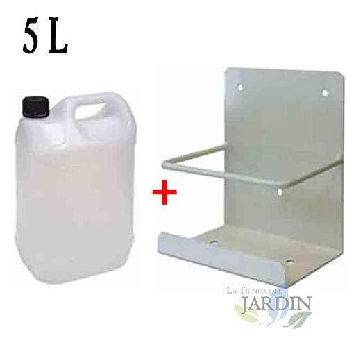 Bidon 5 litros para condensador + soporte. Útil para aire acondicionado