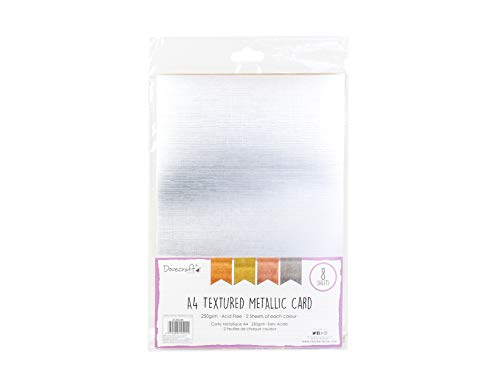 Dovecraft DCBS208 Metallic A4 Karten, Mehrfarbig