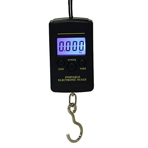 Demarkt Bascula Digital LCD De Mano Colgar Equipaje 40Kg Peso Pesca Maletas Dinamometro