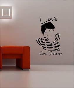 Online Design Louis Tomlinson One Direction Pared Pegatina Vinilo Lounge Música Dormitorio Girls - Azul