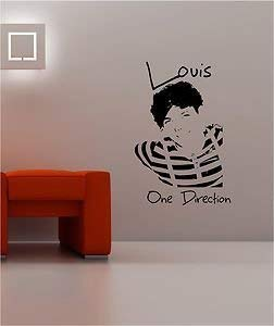 Online Design Louis Tomlinson One Direction Pared Pegatina Vinilo Lounge Música Dormitorio Girls - Azul