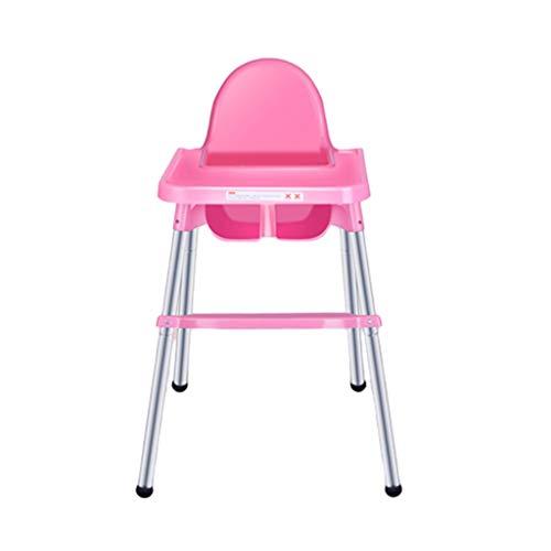 GaoYunQin Babyhochstuhl Babyhochstuhl, Klappbarer Baby- / Kinderhochstuhl, Multifunktionaler und Einfach Verstellbarer Kindersitz (Color : Pink)