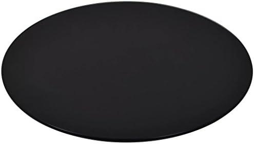 Glasplaat rond30 cm glazen tafel tafelblad van gehard glas tafel glasplaat 8 mm dik voor salontafel eettafel zwart
