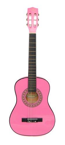 ts-ideen Kindergitarre 1/2 Akustik Klassik Gitarre mit Tasche und Gurt NEU (1/2, Pink)