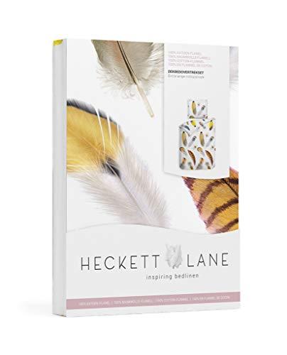 Heckett Lane HNL Wende- Bettwäsche Flanell (w Biber) 135x200 80x80 mit Reißverschluss (Lopez)
