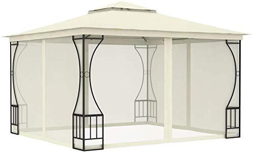 Anti-UV Gazebo, Tent Tents with Side Windows,Beige-300x400x265 cm