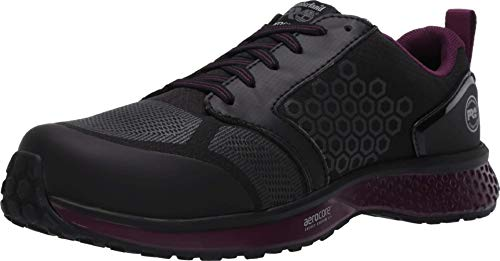 Timberland PRO Women's Reaxion Athletic Composite Toe Industrial Boot, Black/Purple, 5.5