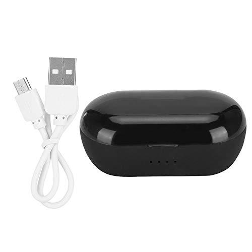 Garsent Bluetooth-hoofdtelefoon, TWS Touch Control HiFi Bluetooth 5.0, draadloze in-ear hoofdtelefoon support 3-4H speelduur bass stereo muziek hoofdtelefoon voor iOS, Android, Smartphpone, tablet enz., zwart