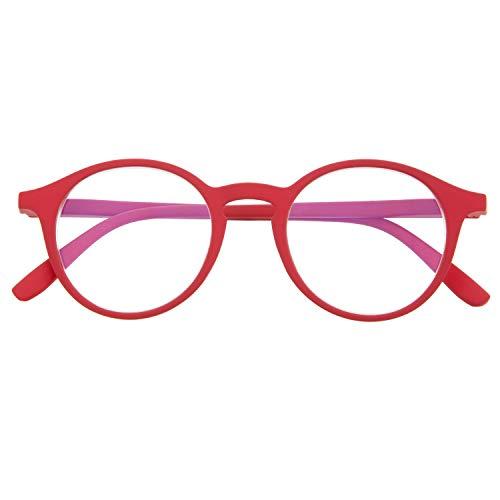 DIDINSKY Blaulichtfilter Brille für Damen und Herren. Blaufilter Brille mit stärke oder ohne sehstärke für Gaming oder Pc. Gummi-Touch-Tempel und Blendschutzgläser. Ferrari +1.5 – UFFIZI