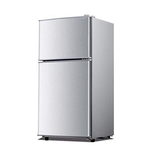 JF 58L Frigorífico de doble puerta Refrigerador pequeño Ajuste de seis temperaturas, -18°C de congelación y refrigeración, ahorro de energía Silencio Mantente fresco