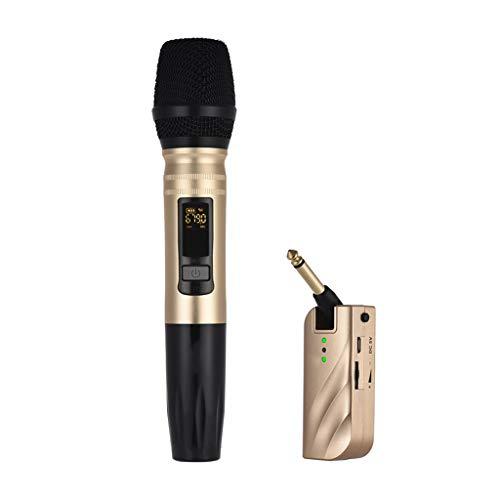 DAXINYANG Micrófono inalámbrico con Receptor USB portátil para la grabación Amplificador de Voz