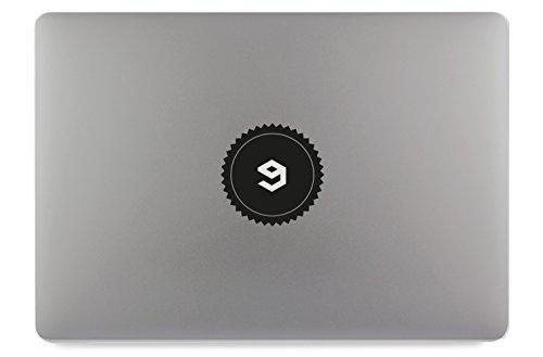 9GAG Logo Kreis mit Kranz Aufkleber Skin Decal Sticker geeignet für Apple MacBook und alle Anderen Laptop und Notebooks (11