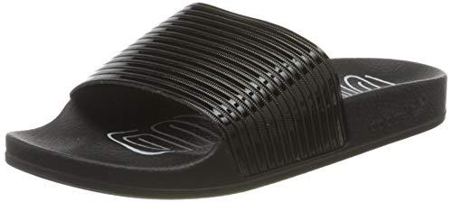 adidas Damen Adilette W Dusch- & Badeschuhe, Schwarz (Core Black/Core Black/FTWR White Core Black/Core Black/FTWR White), 38 EU
