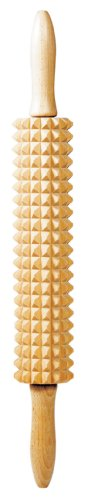 Linden Sweden Deep Notched Rolling Pin– Great for Home or Professional Use – Prepare Delicious Flatbreads and Crackers