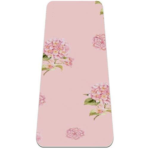 nakw88 Alfombrilla de yoga antideslizante con rosas rosas rosas rosas rosas gruesas para yoga, pilates y ejercicios de suelo (72 x 24 x 6 mm) para mujeres y niñas