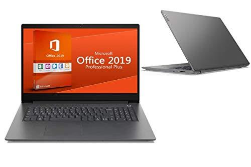"""Laptop IDEAPAD V17 - CORE i3 - 8GB DDR4-RAM - 256GB SSD - Windows 10 PRO + MS Office 2019 PRO - 44cm (17.3\"""") WXGA MATT"""