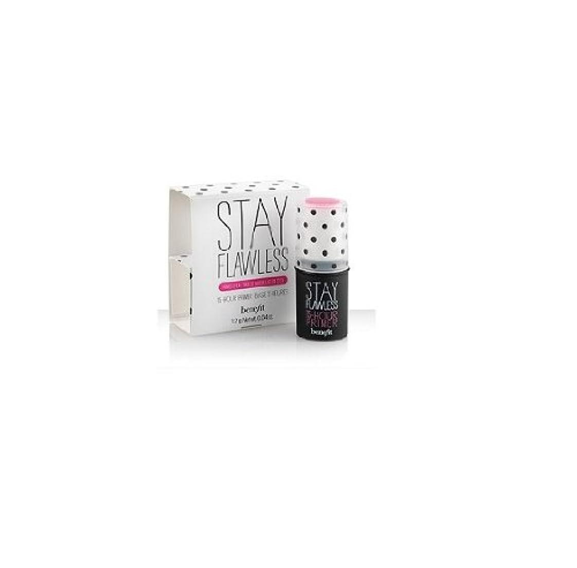 女性フリッパー横ベネフィット ステイ フローレス 15アワー プライマーベース トラベルサイズ Benefit Stay Flawless 15-Hour Primer Stick 0.04 Oz.