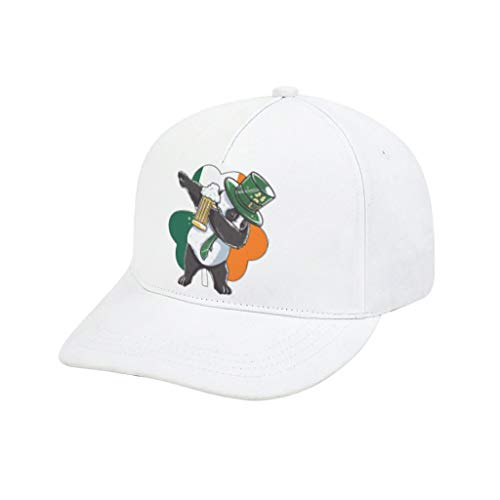 superyu Tapas de malla a presión divertidas de San Patricio duende fiesta Strapback gorra de pesca para hombres y mujeres blanco adulto impresión de goma doblada