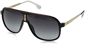 Carrera Men s 1007/S Rectangular Sunglasses Black/Dark Gray Gradient 62mm 10mm
