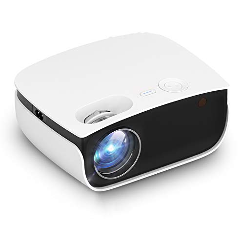 AWJK WiFi Projector, 5800 Bluetooth Projector Full HD 1080P Supported Mini Portable Home Projector, 200' Display Wireless Mirroring Projector for TV Stick, HDMI, VGA, USB, PS4,PC, Smartphone