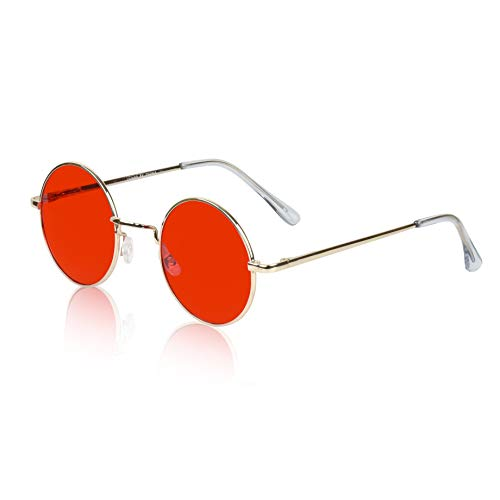 70's Glasses for Women Hipster Girls 60s Disco Party Sunglasses Costume Red Lens