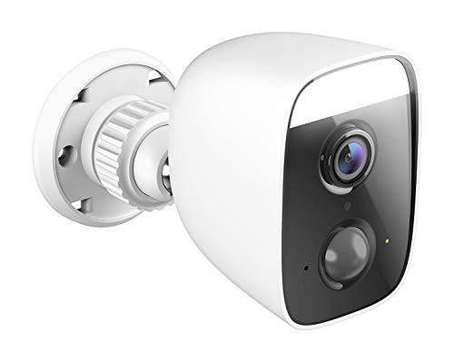 Oferta de D-Link DCS-8627LH - Cámara Exterior WiFi Control por Voz, Foco Luz LED Spotlight 400 Lumen, Sirena 100 dB, Full HD, Visión 150°, Detección Personas, Vídeo en la Nube, IP65, Blanca