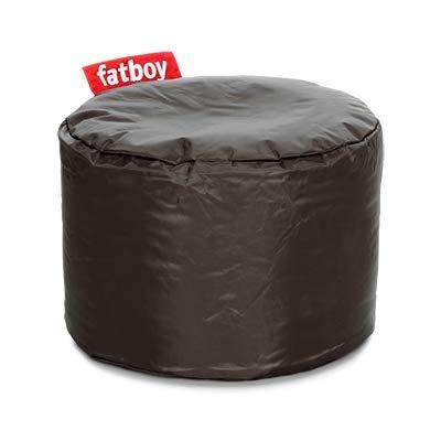Fatboy® Point Hocker Nylon Taupe | Kleiner, runder Sitzhocker | Trendiger Poef/Fußbank/Beistelltisch | 35 x ø 50 cm