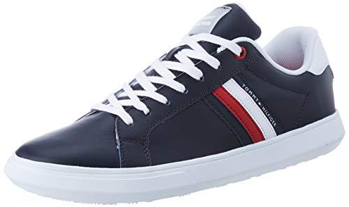 Tommy Hilfiger Herren Essential Leather Cupsole Sneaker, Blau (Desert Sky Dw5), 42 EU